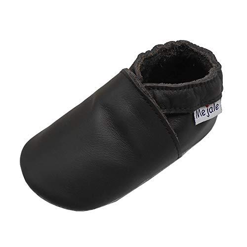 Mejale Babyschuhe Unsex Säugling Weiche Lederschuhe Mädchen Jungen Mokassins Neugeborene Slip Sohle Kleinkind Walker Slipper Dunkelbraun Schuhe (0-6 Monat)