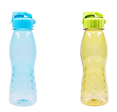 2er Set culinario Trinkflasche Flip Top, BPA-frei, 700 ml Inhalt, blau und grün