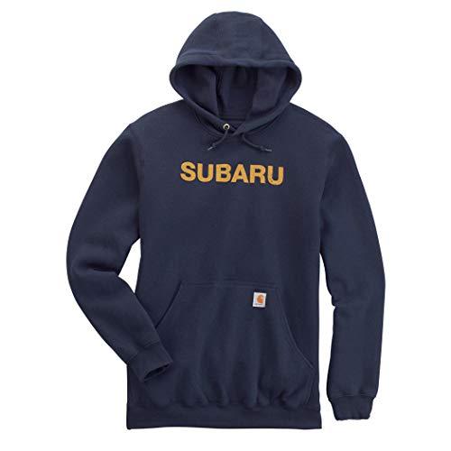 Subaru Logo Midweight Hoodie Forester Impreza WRX STI Sweatshirt Outback Ascent (XL)