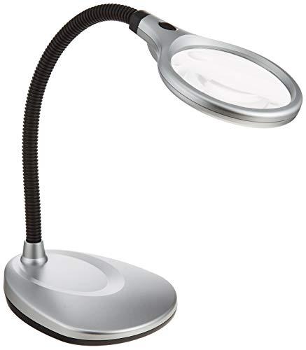 MIZAR-TEC スタンドルーペ 倍率2倍 レンズ径105mm フレキシブルアーム 5倍サブレンズ LEDライト付き SL-105L