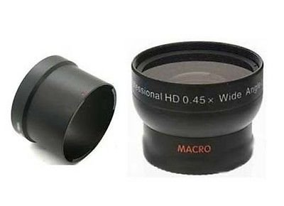 Wide Angle Lens + Tube Bundle for Canon Powershot S2, Canon S3, Canon S5 is, Canon S2IS, Canon S3IS, Canon S5IS