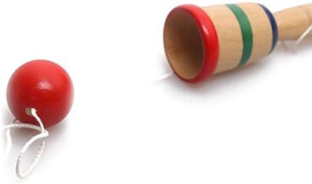 VORCOOL Giocattolo Kendama in Legno con Corde Extra Bilanciamento Abilit/à Cognitive Migliorate Riflessi di Equilibrio E creativit/à Modello Kendama Arancione