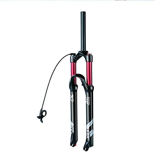 ZFXNB MTB Air Horquilla con Ajuste De Amortiguación 26/27.5/29 Pulgadas Horquilla De Suspensión De Bicicleta Aleación De Magnesio Horquillas De Bicicleta Control De Hombro/Cable 1-1/8 / 1