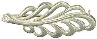 J R Jewellery Broche Hoja Plata Maciza Hecho a Mano A Orden Británico Contraste en Caja