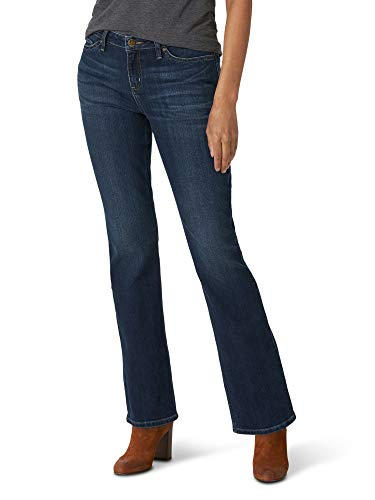 Lee Women's Misses Regular Fit Bootcut Jean, Compass, 14