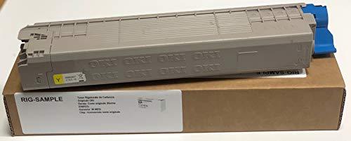 Toner Oki MC853DN MC873DN MC853 MC873 - Amarillo - 7.300 PAGINAS A4 (Ein/ISO) - CÓDIGO SAP Oki: 45862837 - EAN Original Oki: 5031713064176 - Peso: 542,6 Gramos - REGENERADOS, RECONSTRUIDOS