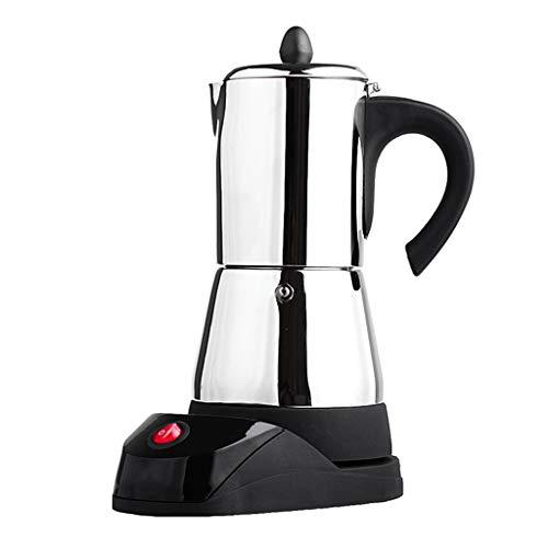 Baoblaze Elektrische Espressokocher Edelstahl Espressomaschine Espressokanne mit EU-Stecker - 6 Tasse