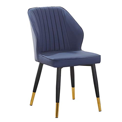 HUAYIN Modern Living Room Chair, Leisure Leather Dining Without Armrests Chairs | Club Lounge Chair with High Elastic cushion and Backrest for Home Accent Chair,Blue