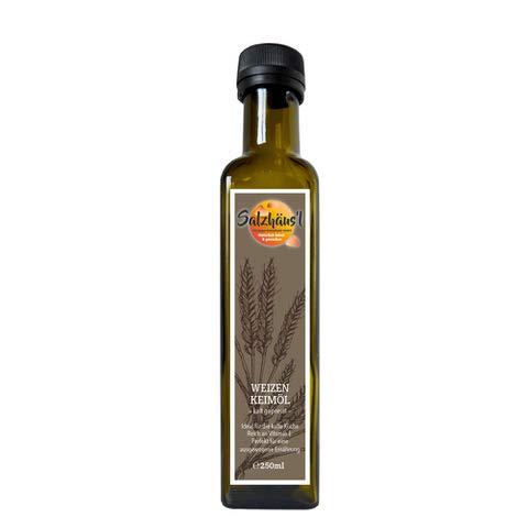 Weizenkeimöl Salzhäusl (vormals Biomond) 250 ml / Testsieger / Gourmetöl / Hautöl / kalt...