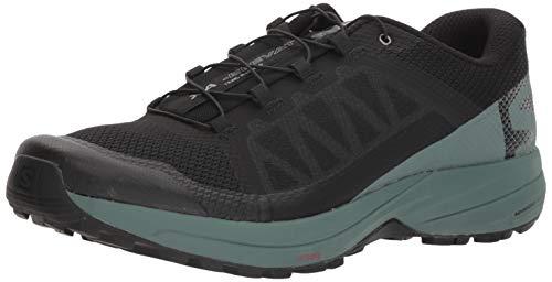 Salomon Men's XA Elevate Trail Running Shoes, Black/Balsam Green/Black, 11