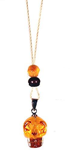 Dakini Designs Tibetan/Tantric Meditation Necklace/Golden Fire/Skull/Naga Land Tibet Sacred Stones Amulet