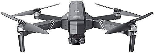 rzoizwko Drone, Drone Plegable con cámara 4K HD FPV WiFi RC Quadcopter con Control de Voz, Control de Gestos, Vuelo balístico, Vuelo Circular, GPS sin escobillas Regreso a casa Plegable, Gimbal Anti-