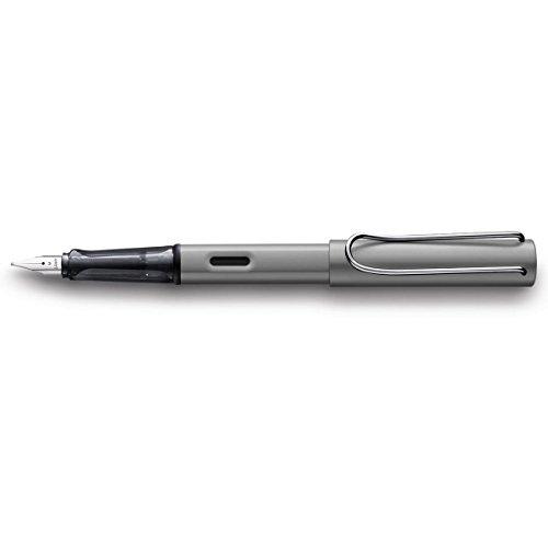 LAMY AL-star Füllhalter 026 – Füller aus Aluminium in der Farbe Graphit mit transparentem Griffstück und Stahlfeder – Federstärke F