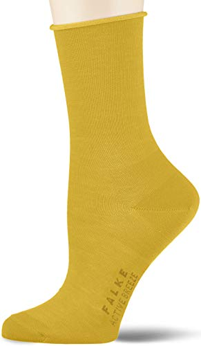 FALKE Damen Socken Active Breeze, Lyocellmischung, 1 Paar, Gelb (Deep Yellow 1007), 39-42
