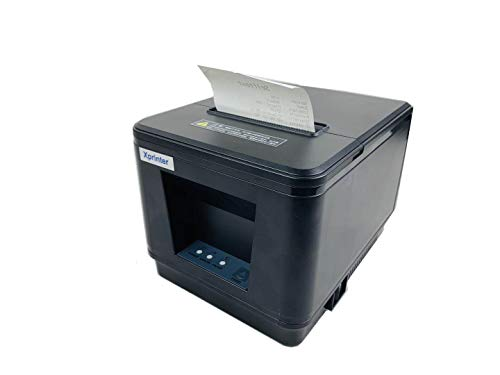 80MM POS Thermal Receipt Printer Compatible 80mm Thermal Paper Rolls sec High- Pos Printer with Auto Cutter ESC/POS Command Support Windows Mac Pos System(Black)(USB)