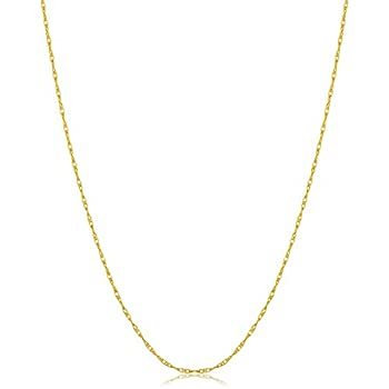 10k Yellow Gold Rope Chain Pendant Necklace  0.8 mm 14 inch