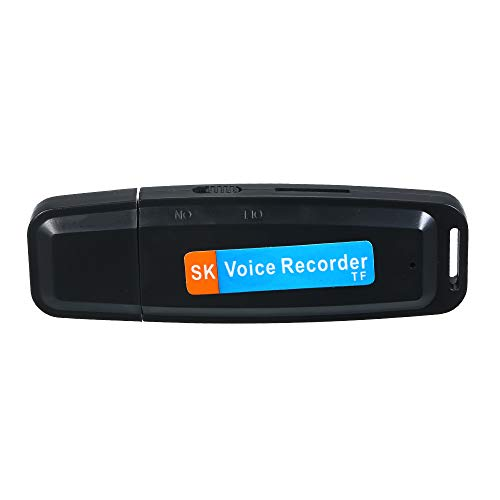 Leepus Mini registratore vocale USB portatile Registratore U-disk ricaricabile Supporto per archiviazione di registrazione con un solo pulsante Scheda TF 1-32G per incontro Conferenza Intervista