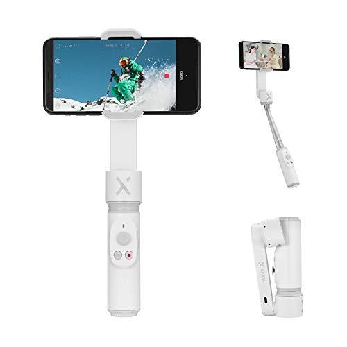 ZHIYUN Smooth-X Ufficiale Smartphone Pieghevole Stabilizzatore del Giunto Cardanico Stick per Selfie Vlog Youtuber (Bianco)