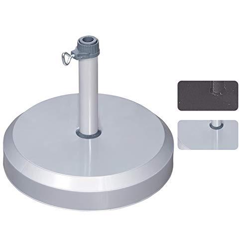 Doppler Betonsockel, robust, 25 kg Silber