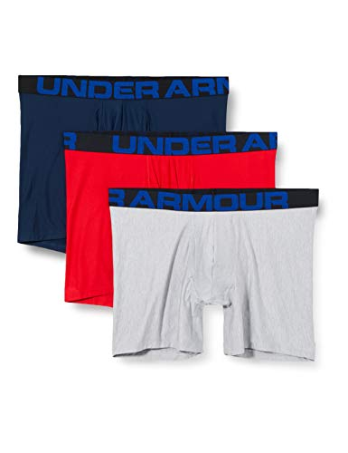 Under Armour Tech 6in 3 Pack, Quick-drying sports underwear, 3 pack...