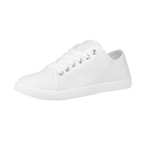Elara Damen Sneaker Basic Chunkyrayan CL33318 White-38