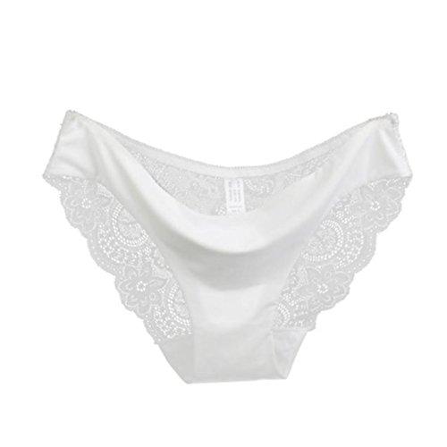 JiaMeng Lencería,Bragas de Encaje de Mujer Bragas de algodón sin Costura Bragas Huecas Cintura Baja Ropa Interior