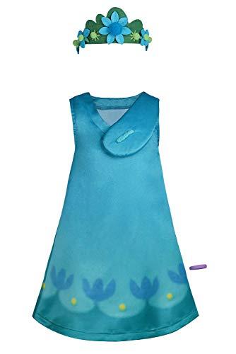 Poppy - Disfraz de Halloween para carnaval, color azul