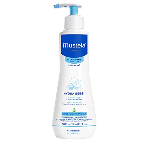 Mustela Hydra Bebe Body Lotion, Daily Moisturizing Baby Lotion for Normal Skin, with Natural Avocado Perseose, Various Sizes, 10.14 Fl Oz