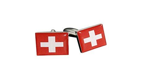 Flaggenfritze® Manschettenknöpfe Fahne / Flagge Schweiz