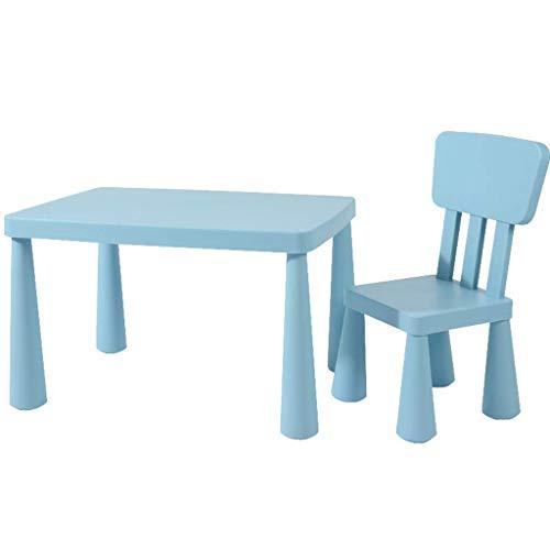 Wohngeräte Tisch Stuhl Sets Kinder Schreibtisch und Stuhl Set Kunststoff Interaktive Workstation Kindergarten Kombinierte Studie Tisch und Stuhl Set Geeignet für Kinder Alter 1 6 Jahre Maximale Bel