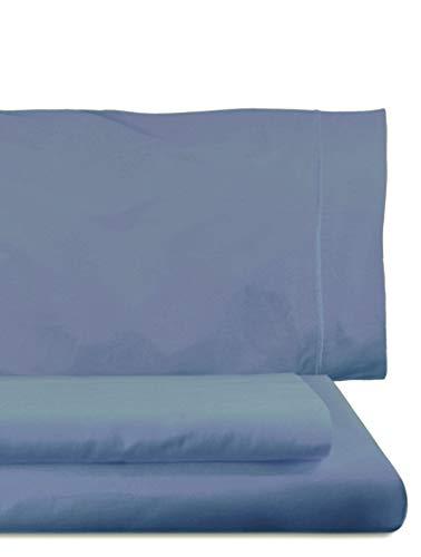 Home Royal - Juego de Funda nórdica, 155 x 260 cm, Bajera Ajustable, 90 x 200 cm, Funda para Almohada, 45 x 110 cm, Color mar