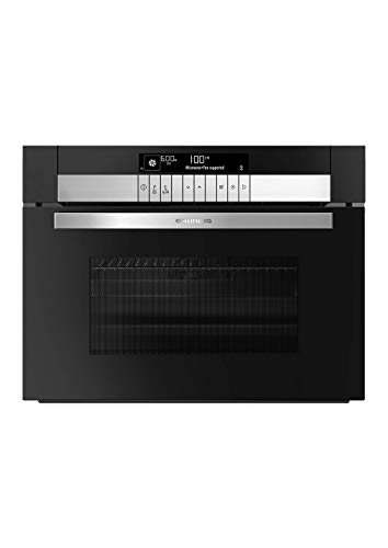 Grundig GEKW 47001 B Kompaktofen/animiertes Text LC-Display mit Sensortasten/ 10 Heizarten/Mikrowellenfunktion/Chef Assist-Garprogramme/ 40 l Innenraum/herausnehmbare Seitengitter