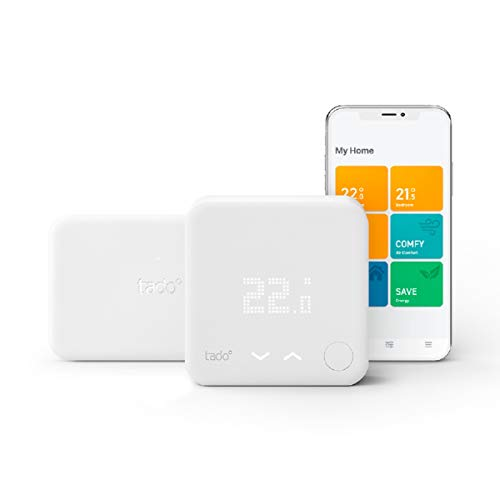 tado° Wireless Smart Thermostat Starter Kit V3+ with Hot Water Control,...