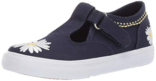 Keds Girls' Daphne Sneaker, Navy Daisy, 095 Medium US Toddler