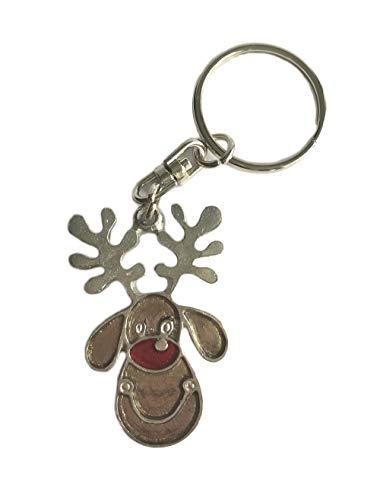 Porte-clés Rudolph Le Renne au Nez Rouge (Porte-clés), étain