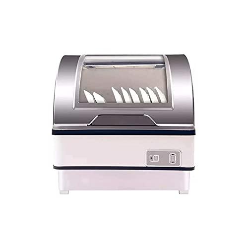Lavaplatos Completamente Automático,Lavavajillas DeEncimera Independiente con 6 Configuraciones De Lugar - Lavaplatos De Desinfección De Mesa, Toque El Botón 360 Grados