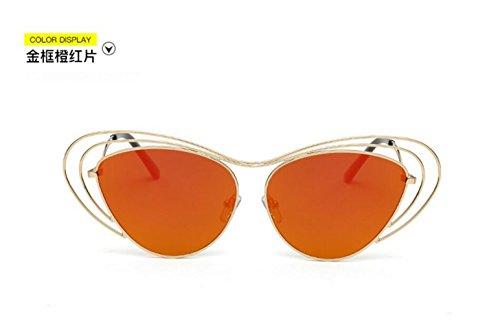 LSHGYJ GLSYJ@,Große Box, Sonnenbrille, Schmetterling Trend, Metall, Sonnenbrille, weibliche Modelle, Sonnenbrille, die jurte