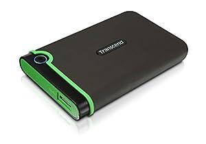 SuperSpeed USB 3.0 e compatibile con USB 2.0 Case esterno in gomma Tasto One Touch Auto-Backup Tasto di accensione e spegnimento Download gratuito dei software Transcend Elite e RecoveRX SuperSpeed USB 3.0 e compatibile con USB 2.0 Case esterno in go...
