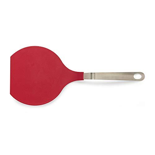 Banco de luz de cocina, mango ergonómico, rascador de masa multiusos para uso culinario, cortador de cuencos de acero inoxidable, Volteador, Rojo, XL Flexible...