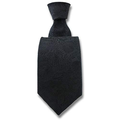 Robert Charles. Cravate. Pasadena, Soie. Noir, Fantaisie. Fabriqué en Italie.