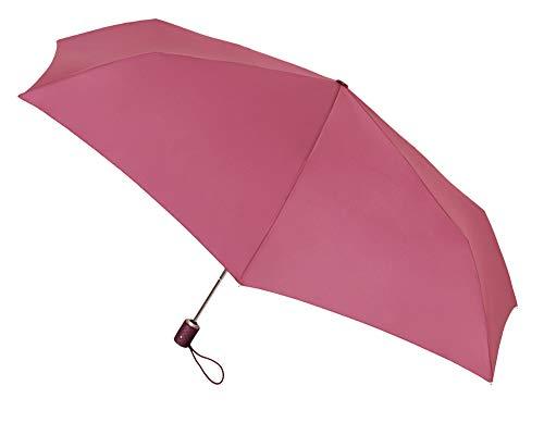 Paraguas Vogue Plegable automático con protección Solar (FPS +30). Antiviento y Acabado Teflón Que repele el Agua. (Fucsia)