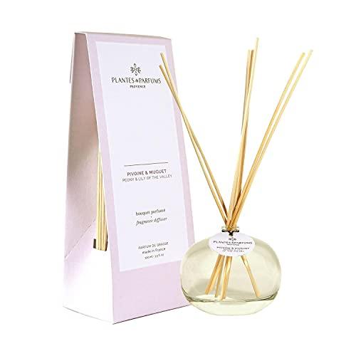 Plantes et Parfum Provence 70444 – Ramo de bragas perfumadas (100 ml), peonía y muguet