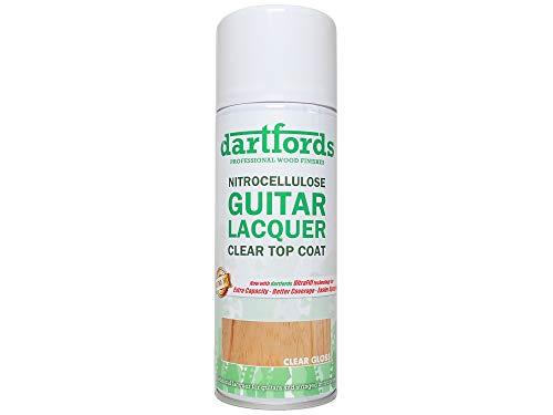 dartfords Nitrozellulose-Gitarrenlack, glänzend, klar, 400 ml Aerosol