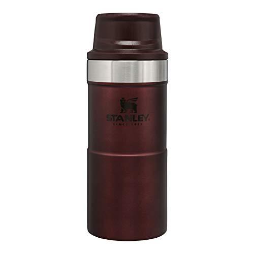 Stanley Classic Trigger Action Travel Mug 0.35L / 12OZ Wine – Lekvrij | Vacuüm geïsoleerde thee en koffie reismok | Roestvrijstalen thermosbeker houdt 5 uur warm | BPA-vrij | Vaatwasserbestendig