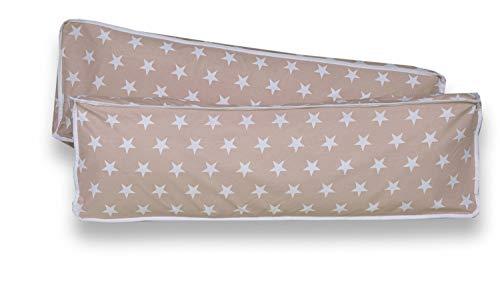 Rückenkissen-Set für Kinderzimmer mit Farbauswahl, Kissenfarbe:Sterne Beige