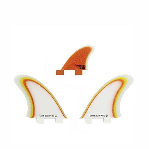 Juego de Aletas para Tabla de Surf, diseño de Capitán Fin Chippa Wilson + Neal Purchase Jr. Twin ESP, One Size/Twin Tab, Anaranjado