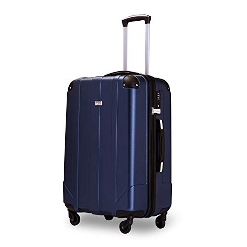 Zebery Suitcase, Hard-Shell Travel Case, Trolley Case, Trolley Spinner Case with TSA Lock and Handles