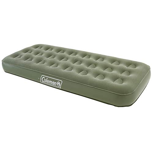 Coleman Airbed Comfort Bed Single, Camping Mat, Flocked Air Bed, Inflatable Air Mattress, Blow Up Bed, 188 x 82 x 22 cm
