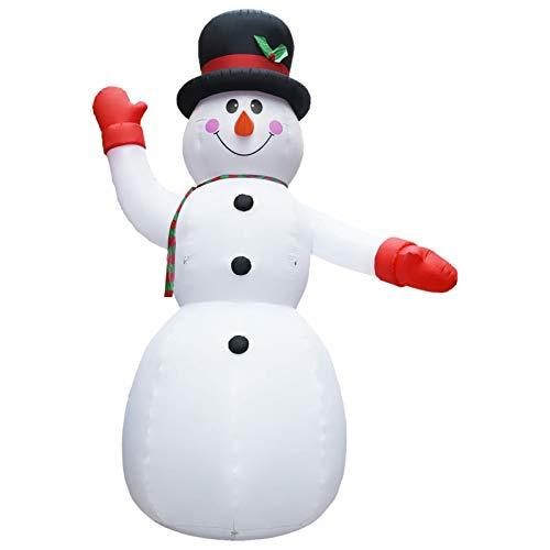 Festnight Muñeco de Nieve Navidad Inflable XXL Decoración de Navidad Soplador Alta Presión 10 m