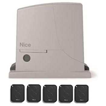 Nice ROX600KIT (motor ROX600 + 5 X FLO2RE transmisores) para el accionamiento de puertas correderas de hasta 600 kg: Amazon.es: Bricolaje y herramientas